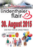 Straßenfest Lindenthaler Flair Plakat