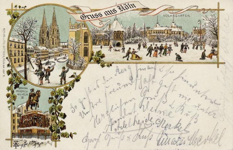 Alte Weihnachtskarten aus Köln