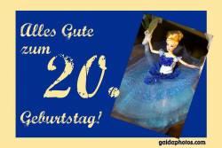 Karte zum 20. Geburtstag Barbie Puppe