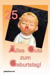 Karte 25. Geburtstag Engel singt