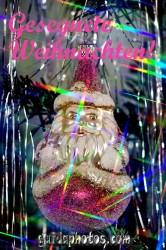 Frohe Weihnachten Karte, Weihnachtsmann