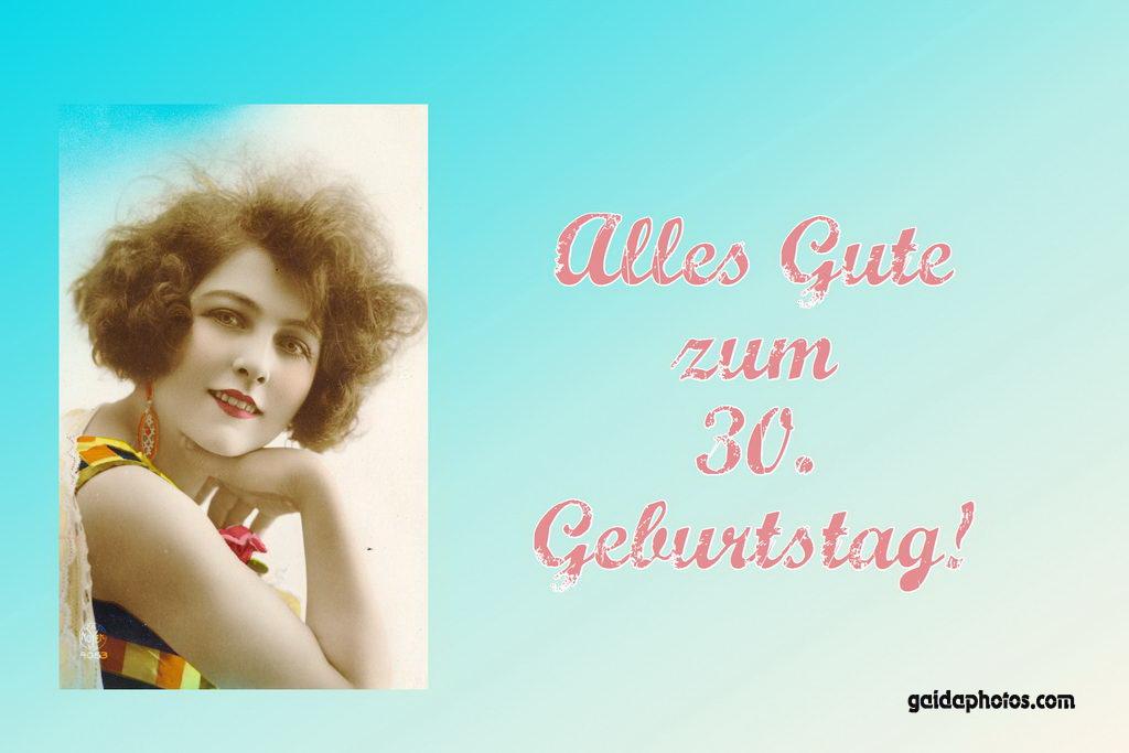 30. Geburtstag Karte Frau Historisch
