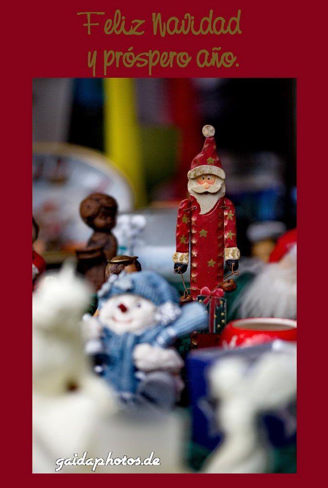 Weihnachtskarte mit spanischen Grüßen