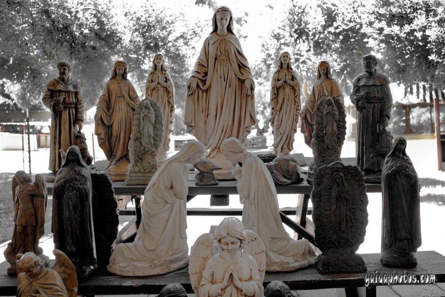 Heilige Maria Statuen