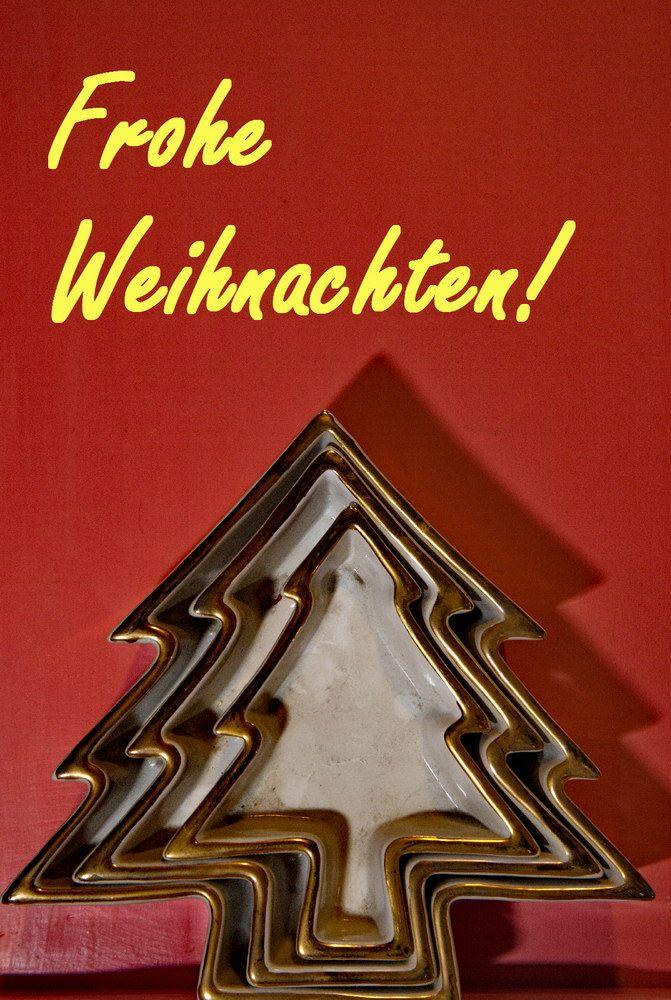 Weihnachtskarte mit Weihnachtsbaummotiv