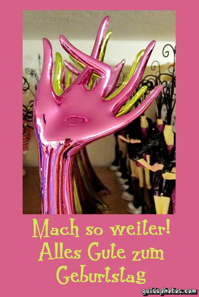 OK, Finger, Geburtstagskarte rosa