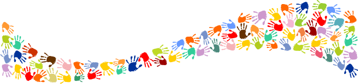 Coloured hands graphic