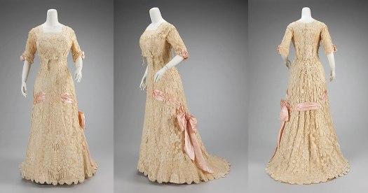 Irish crochet lace dress from 1908.