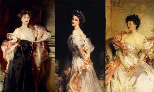 John Singer Sargent paintings of Edwardian ladies