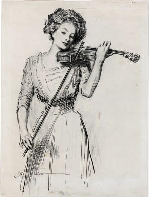 Gibson Girl drawing by Charles Dana Gibson
