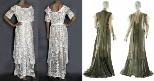 Summer and Winter Edwardian Tea Gowns