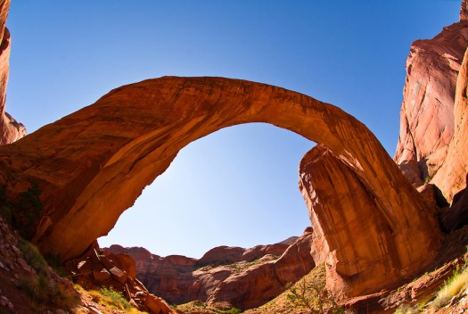 Rainbow Bridge arch, world's largest known natural bridge.