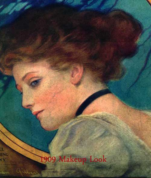 1909 Edwardian Makeup Look
