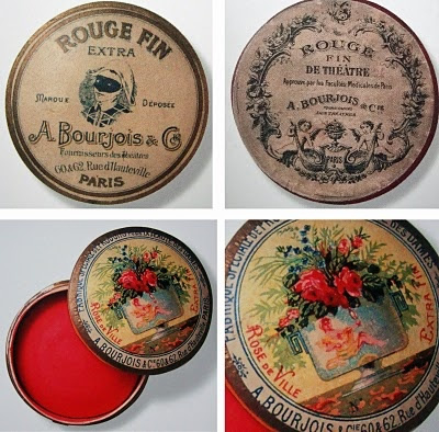 Edwardian makeup - rouge pots