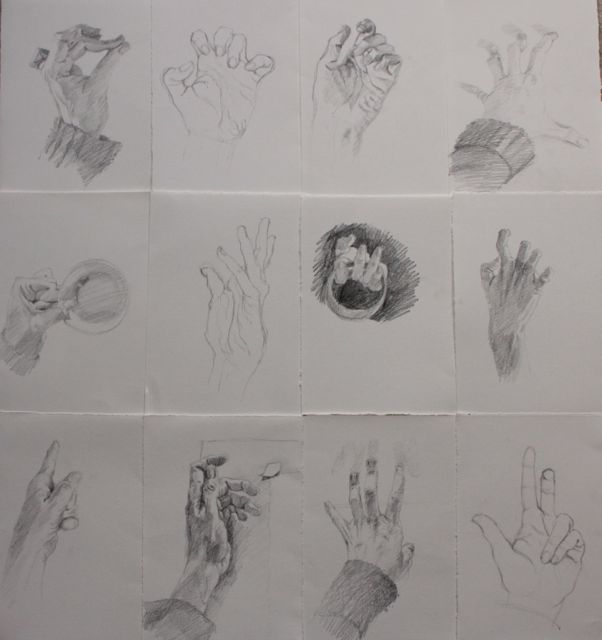 Drawing Hands – 30 sketches in 30 days