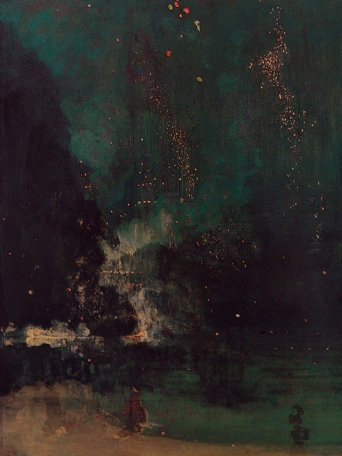 Whistler's 'Nocturne in Black and Gold' and a poem to celebrate the New Year!