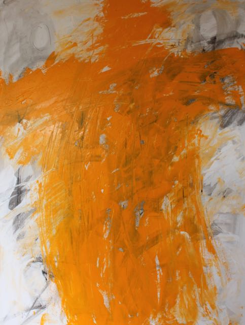 2. Trust exhibition: Adding gobs of Diarylide Yellow with a palette knife