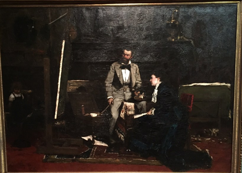 "Mihály Munkácsy, ""In the Studio,"" 1876, oil on wood?, size unknown at this time, Hungarian National Gallery, Budapest"