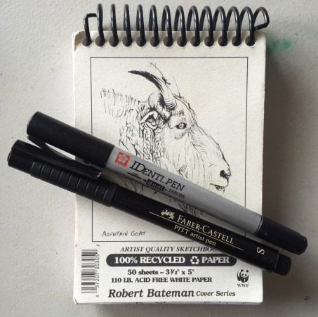 Sketch-a-day: My favourite sketchbook and pens