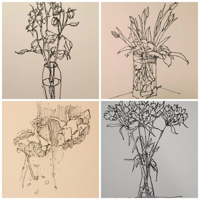 Sketch-a-day: Flowers