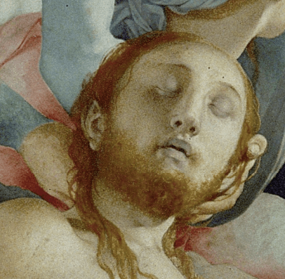 "Jacopo Carucci da Pontormo, ""The Deposition,"" 1526-1528, oil on wood, 313 x 192 cm (123 x 76 in), Capponi chapel, Santa Felicita, Florence. Detail"