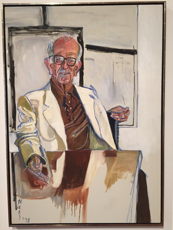 "Hands in Paintings (SAM): Alice Neel, ""Richard Lang,"" 1978, oil on canvas, 50 x 35 in (127 x 88.9 cm), Seattle Art Museum"