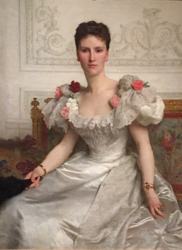 "Hands in Paintings (SAM): William Adolph Bouguereau, ""Portrait of Madame la Comtesse de Cambacérès,"" 1895, oil on canvas, 47 5/8 x 35 1/2 in (120.97 x 90.17 cm), Seattle Art Museum"