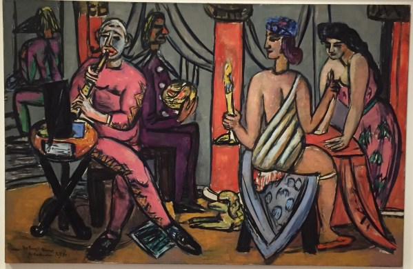 "Hands in Paintings (SAM): Max Beckmann, ""The Pompeii Clowns,"" 1950, oil on canvas, 36 x 55 in (91.44 x 139.7 cm), Seattle Art Museum"