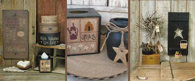 Primitive Home Decor   Country Home Decor   Gainers Creek Crafts Previous  Next