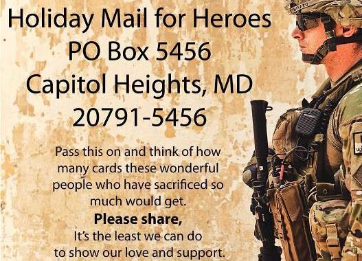 Holiday Mail For Our Soldiers