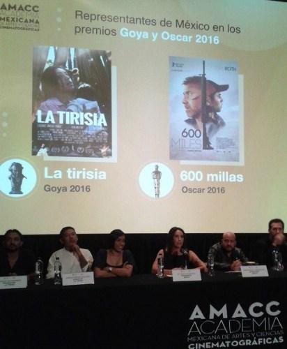 La tirisia y 600 millas para el Goya y el Oscar 2016, respectivamente