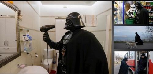 Darth Vader en su tiempo libre