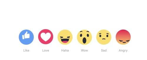 Las nuevas -reacciones- de Facebook