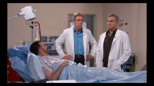 """Dr. Ross y Dr. House tratan de """"salvar"""" a Jimmy Kimmel"""