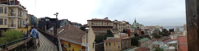 Vista desde Cerro Alegre, Valparaiso.