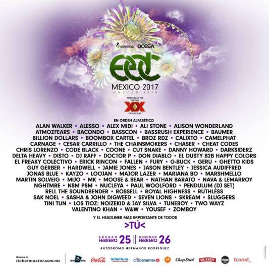 Major Lazer, Alesso y Martin Solveig encabezan el festival EDC 2017