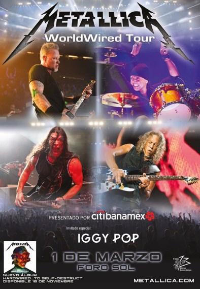 Metallica: fechas y costos del concierto de promoción de Hardwired… To Self-Destruct