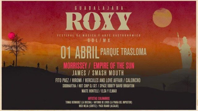 Morrisey encabeza el festival Roxy en Guadalajara