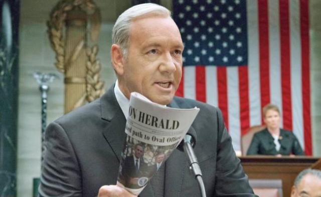 "Netflix retomará ""House of Cards"" en 2018 sin Kevin Spacey"