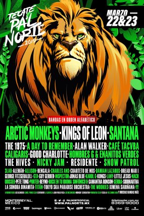 Arctic Monkeys, Kings of Leon y Santana encabezan el festival Pa'l Norte