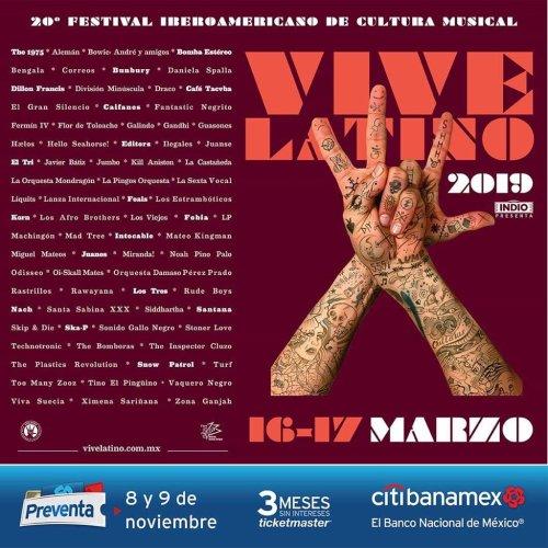 """Cartel del Vive Latino: el grupo Editors lo filtra """"por error"""""""