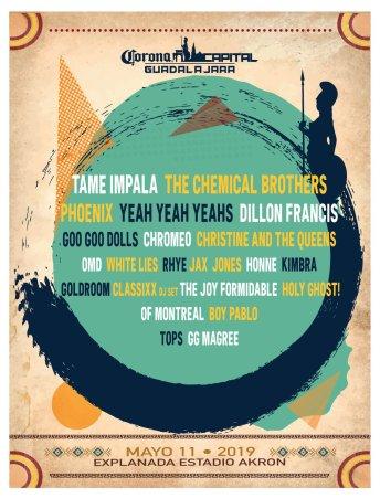 Tame Impala y The Chemical Brothers encabezan el cartel del Corona Capital Guadalajara