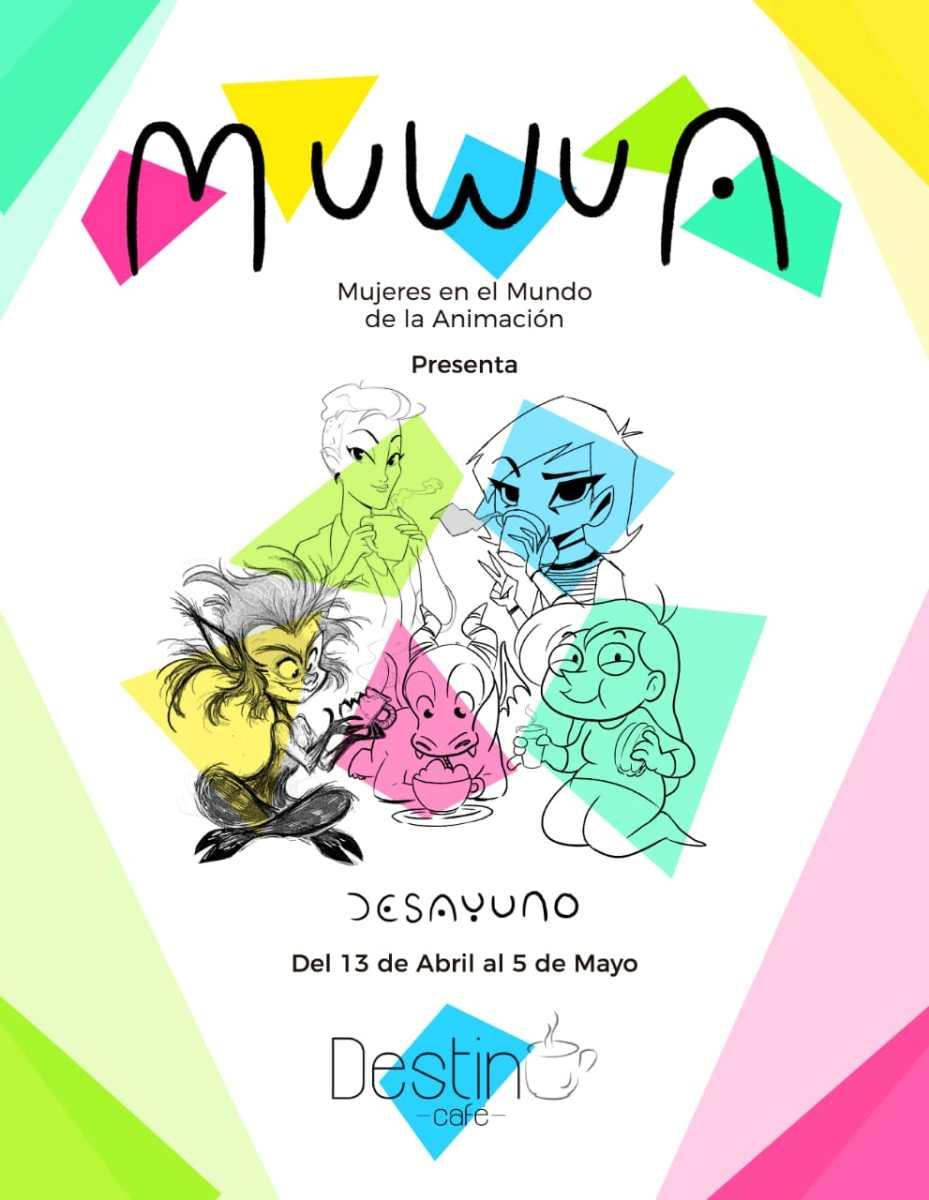 """'Desayuno', primera exposición """"animada"""" del colectivo Muwua"""