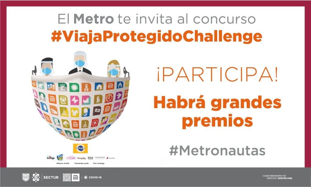 Metro de la CDMX lanza el #ViajaProtegidoChallenge y ofrece premios a los primeros lugares