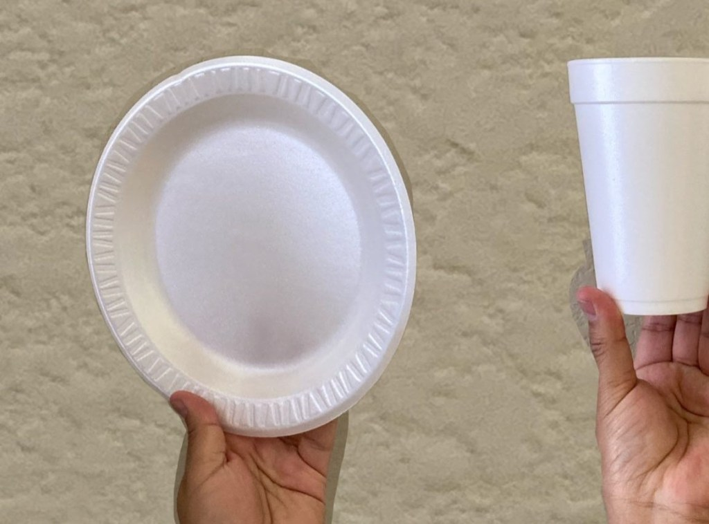plato y vaso de unicel
