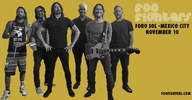 Foo Fighters dará concierto en la CDMX el próximo mes de noviembre