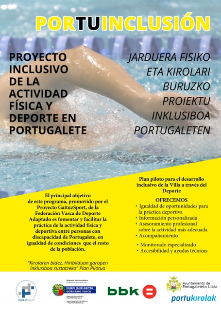 Plan inclusivo de GaituzSport en Portugalete