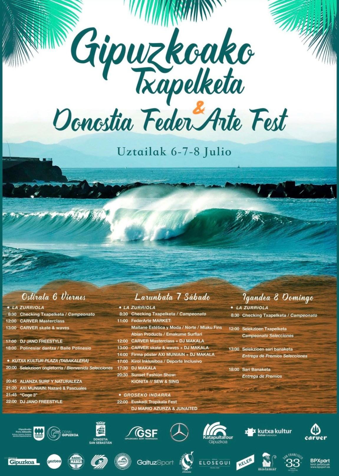Cartel Campeonato de Surf de Gipuzkoa