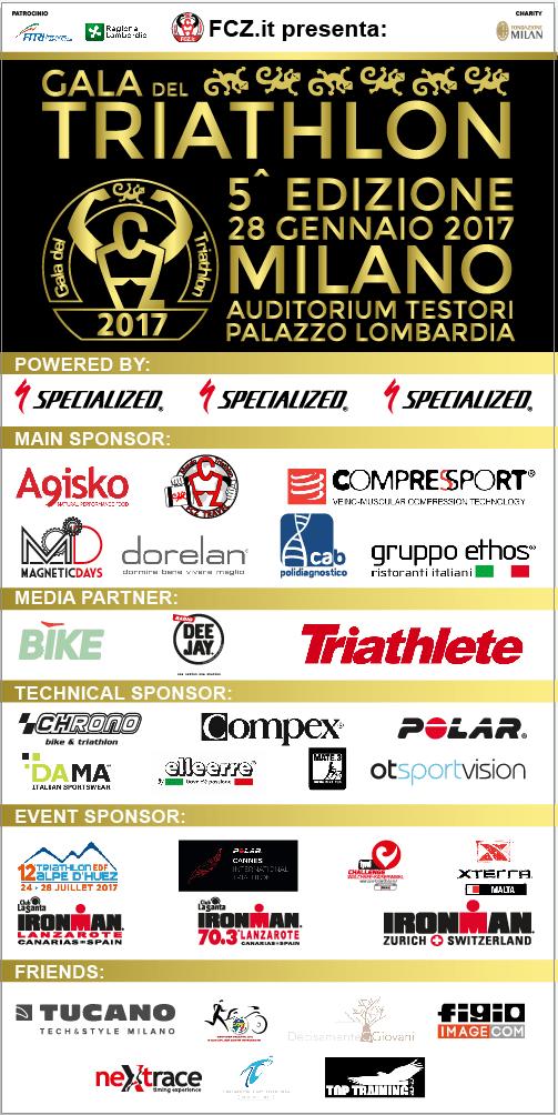 Locandina Gala del Triathlon 2017