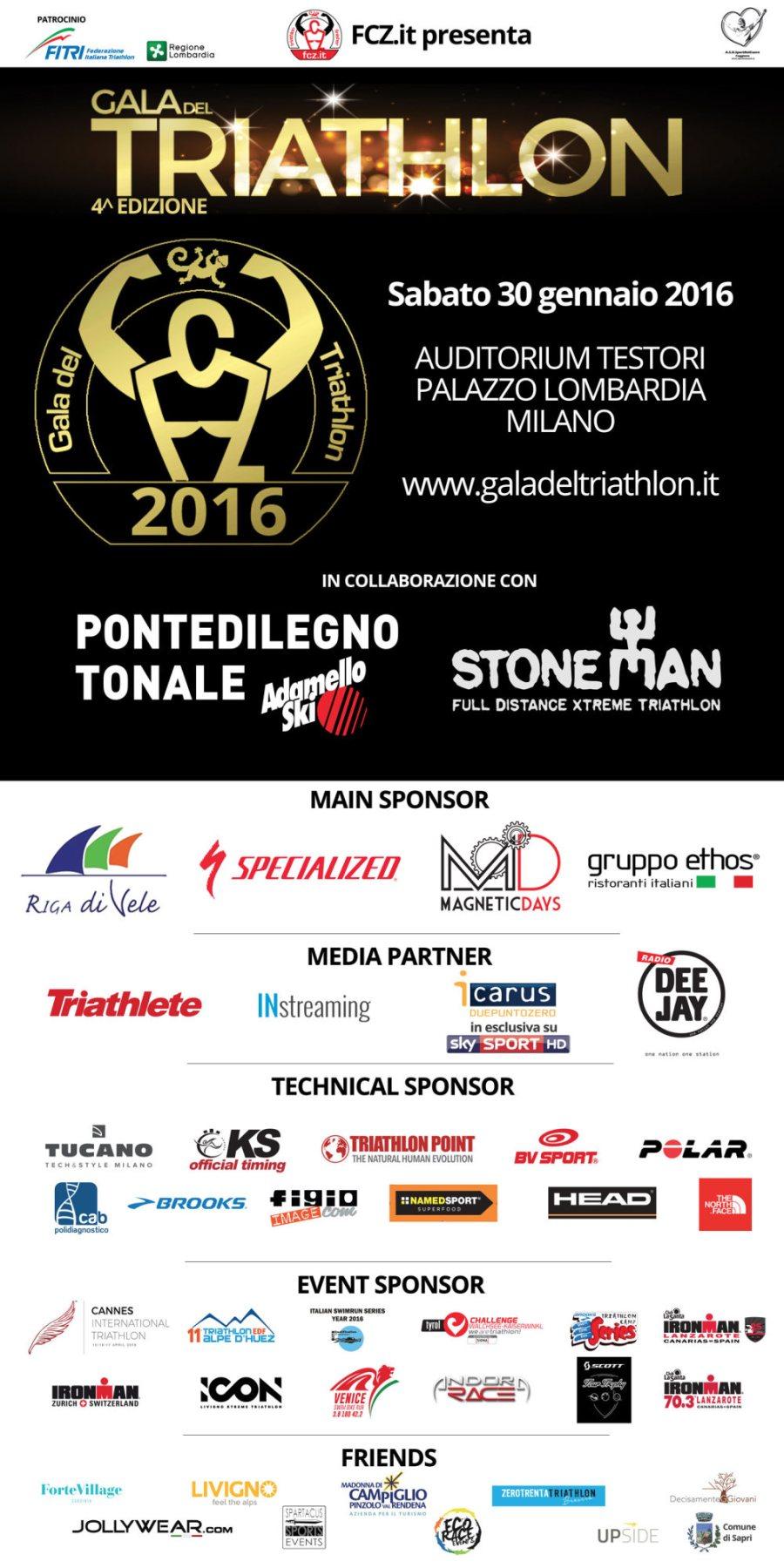 Locandina Gala del Triathlon 2016